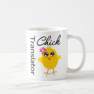 Traductor del polluelo de los empleos tazas de café