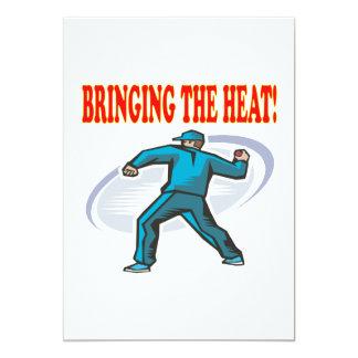 Traer el calor invitación 12,7 x 17,8 cm