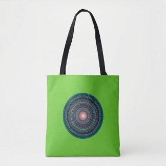 Tragetasche con Mandala en verde Bolso De Tela