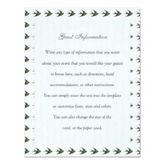 Trago (estilo de la prensa de copiar) invitación 10,8 x 13,9 cm