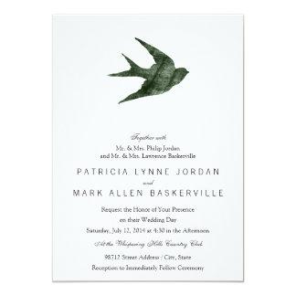 Trago (estilo de la prensa de copiar) invitación 12,7 x 17,8 cm