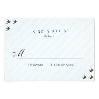 Trago (estilo de la prensa de copiar) invitación 8,9 x 12,7 cm