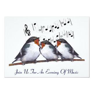Tragos del canto: Pájaros: Invitación del Invitación 12,7 X 17,8 Cm