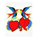 Tragos y tatuaje de los corazones folleto 21,6 x 28 cm