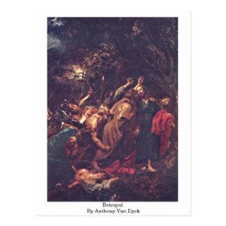 Traición de Anthony Van Dyck Postal