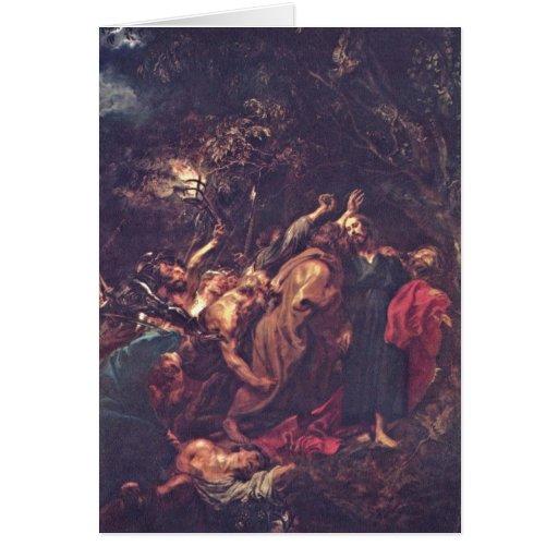 Traición de Anthony Van Dyck Tarjeta