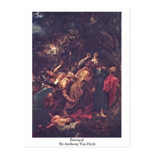 Traición de Anthony Van Dyck Tarjetas Postales