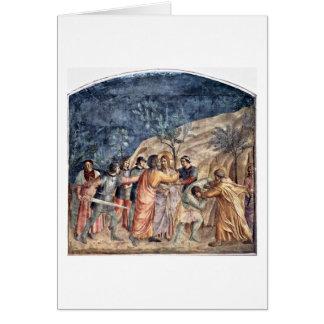 Traición de Cristo por el beso de Judas por Fra An Felicitación