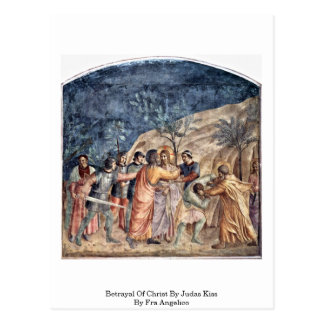 Traición de Cristo por el beso de Judas por Fra An Tarjetas Postales