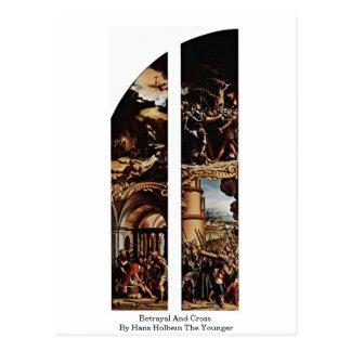 Traición y cruz de Hans Holbein el más joven Postal