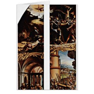 Traición y cruz de Hans Holbein el más joven Tarjeta De Felicitación