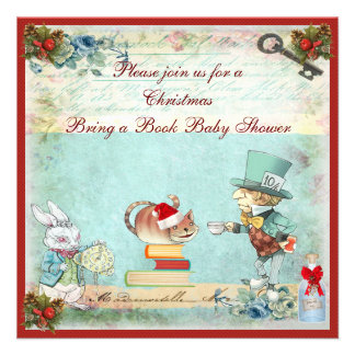 Traiga a libro la fiesta de bienvenida al bebé eno invitacion personalizada