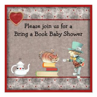 Traiga a libro la fiesta de bienvenida al bebé invitación 13,3 cm x 13,3cm
