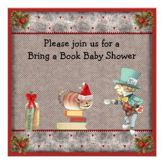 Traiga a libro la fiesta de bienvenida al bebé anuncio personalizado