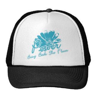 Traiga detrás el flower power gorras
