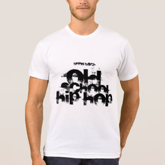 Traiga detrás la camiseta de hiphop de la escuela
