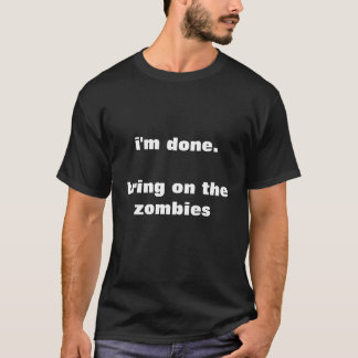 traiga en la camiseta de los zombis