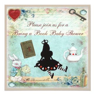 Traiga un libro Alicia en fiesta de bienvenida al Invitación 13,3 Cm X 13,3cm