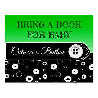 Traiga un libro para la tarjeta de la fiesta de