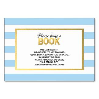 Traiga un libro - tarjetas blancas azules de la