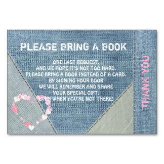 Traiga un libro - tarjetas de la fiesta de