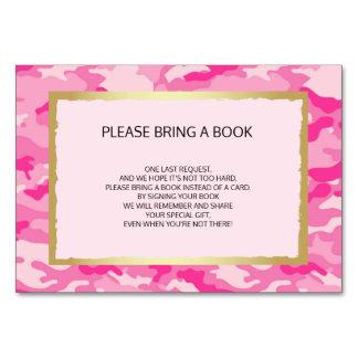 Traiga un libro - tarjetas rosadas de la fiesta de