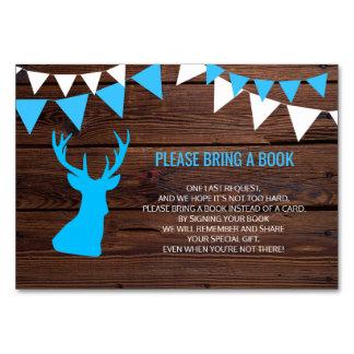 Traiga un libro - tarjetas rústicas de la fiesta
