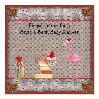 Traiga una fiesta de bienvenida al bebé de Navidad Invitación Personalizada
