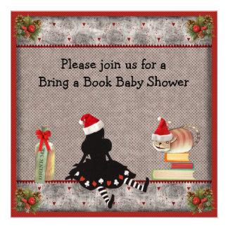 Traiga una fiesta de bienvenida al bebé del navida invitaciones personales