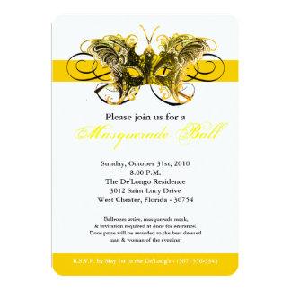 Traje amarillo Halloween de la máscara de la Invitación 12,7 X 17,8 Cm
