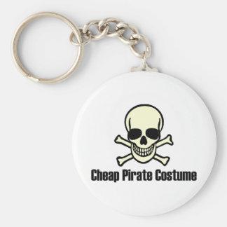 Traje barato del pirata llavero personalizado