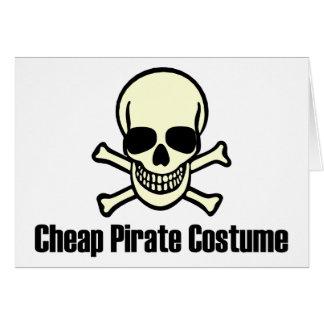 Traje barato del pirata tarjeta
