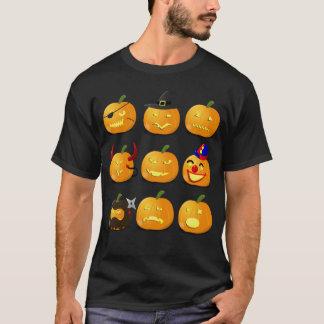 Traje de Halloween de la camiseta de Emoji de la