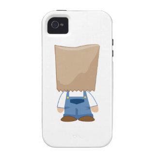 Traje de la bolsa de papel vibe iPhone 4 carcasas