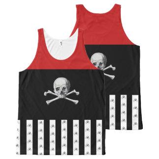 Traje de la camisa del pirata camiseta de tirantes con estampado integral