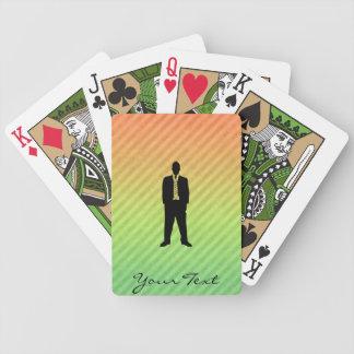 Traje de negocios baraja cartas de poker