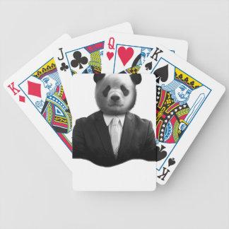 Traje de negocios del oso de panda baraja