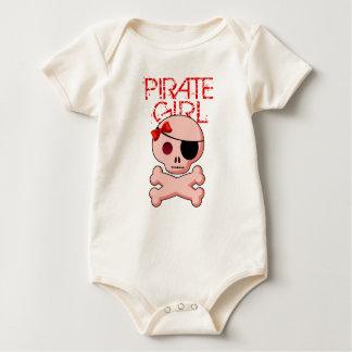 Traje del chica del pirata - fiesta del pirata de body para bebé