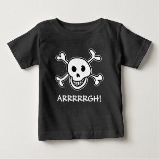 Traje del cráneo del pirata del fiesta de camiseta de bebé