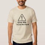 Traje del error 404 Halloween no encontrado Camiseta