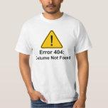 Traje del error 404 Halloween no encontrado Camisetas