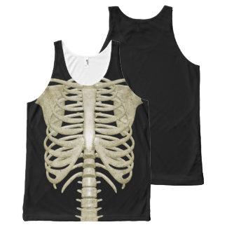 Traje del fiesta de Halloween de la caja torácica Camiseta De Tirantes Con Estampado Integral