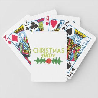 Traje del navidad baraja cartas de poker