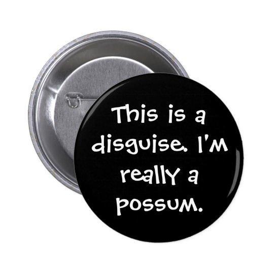 Traje del oposum chapa redonda de 5 cm