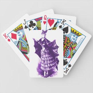 Traje del palo del Victorian Ver (violeta). 1 Baraja De Cartas