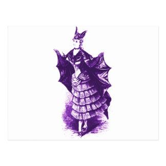 Traje del palo del Victorian Ver (violeta). 1 Postal