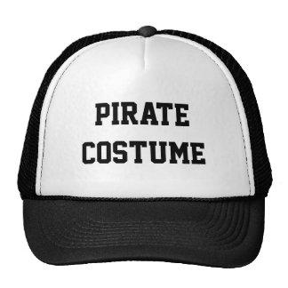 Traje del pirata gorras