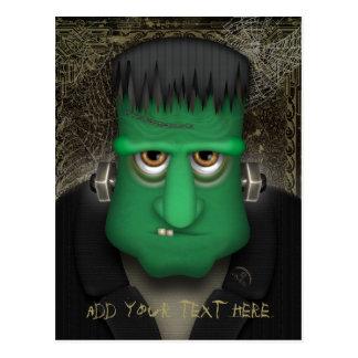 Traje divertido de Frankenstein Halloween Postal