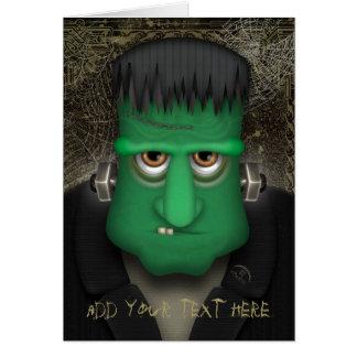 Traje divertido de Frankenstein Halloween Tarjeton