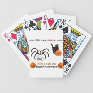 Traje divertido de Halloween Baraja De Cartas